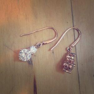 Rose gold earrings!